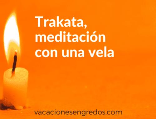 Trakata, meditación con una vela