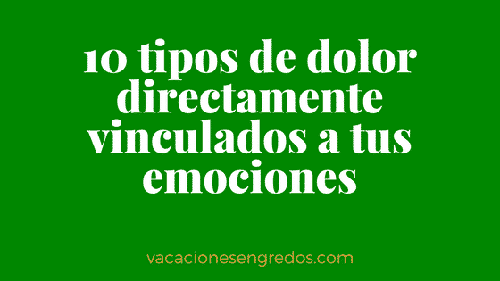 Vacaciones alternativas - dolor emociones